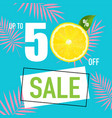 sale poster with lemon vector image vector image