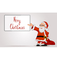 Santa holding in hands a frame and bag vector image
