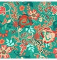 Seamless floral background Colorful red and green vector image vector image