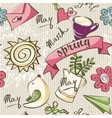 seamless texture - color spring doodles vector image vector image