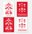 set christmas hand drawn greeting cards in vector image vector image