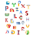 Set of full alphabet symbols vector | Price: 1 Credit (USD $1)