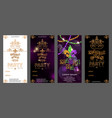 set of mardi gras carnival invitation template vector image