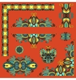 set of paisley floral design elements for page vector image vector image