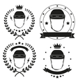 Set of Vintage Motor Club Badge and Label vector image vector image