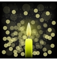 Single Candle vector image vector image