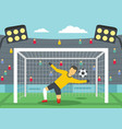 soccer goalkeeper on stadium concept flat style vector image vector image