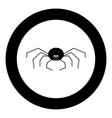 spider the black color icon in circle or round vector image vector image