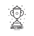 sport trophy cup icon vector image