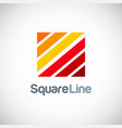 square line company logo vector image vector image
