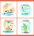 summer fun and time collection vector image vector image