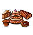 tart and cakes vector image vector image