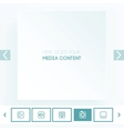 Template for placement of media content vector image