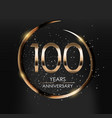 template logo 100 years anniversary vector image vector image