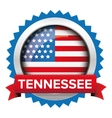 tennessee and usa flag badge vector image vector image