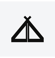 Tent Icon vector image vector image