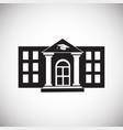 university building on white background vector image