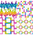 vector set of abstract colorfu vector image