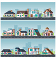 villa landscape residential townhouse living vector image vector image