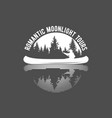 vintage canoeing logo vector image vector image