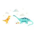 watercolor dinosaur vector image vector image