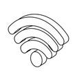 wifi symbol icon vector image vector image