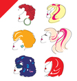 woman heads vector image vector image