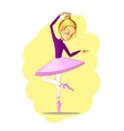 Beautiful ballerina girl dancing vector image