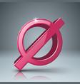 stop no 3d realistic icon vector image