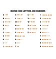 International Morse Code Alphabet vector image