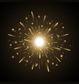 glowing light with sparks golden color vector image