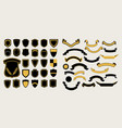 mega a set of templates chevrons and ribbons for vector image