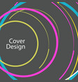 abstract line circle design vector image vector image