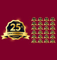 anniversary labels set in golden style vector image vector image