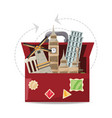bag with architecture towel to visited vector image vector image