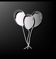 balloons set sign gray 3d printed icon on vector image vector image