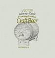 beer logo template hand drawn beer barrel vector image
