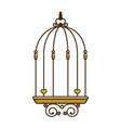 bird cage vintage vector image
