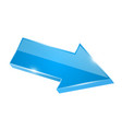blue shiny 3d arrow vector image