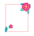 bright postcard with flowers vector image vector image