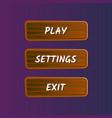 brown options selection windows set vector image vector image