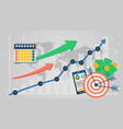 business banner - business analytics vector image vector image