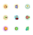 Business time icons set pop-art style vector image vector image