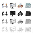 business transaction videoconference schedule on vector image