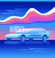 car safety concept transportation technology vector image