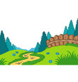 cartoon country landscape vector image