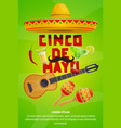 cinco de mayo mexican party greeting banner design vector image vector image