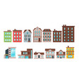 city buildings and townhouse apartment vector image vector image