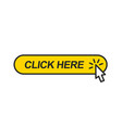 click here web button with mouse cursor vector image