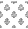 clubs seamless pattern sketch vector image vector image
